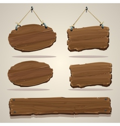 Wood board on the rope vector image