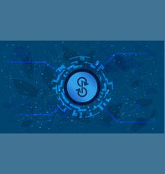 Yearnfinance yfi token symbol defi project on blue vector