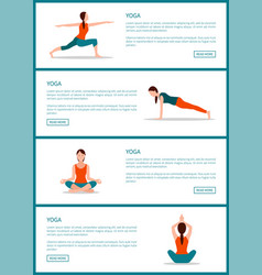 yoga pages collection web vector image