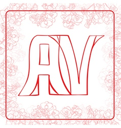 AV monogram vector image