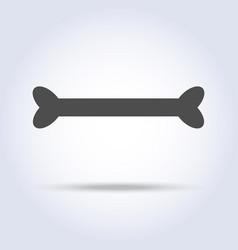 dog pirate bone gray icon vector image