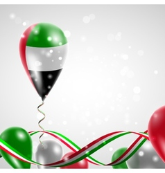 Flag of united arab emirates on balloon vector