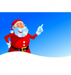 happy Santa on winter background vector image vector image