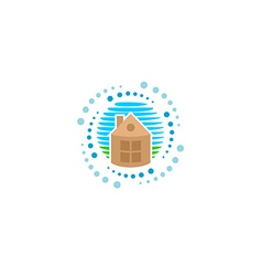 House cleaning logo vector image vector image