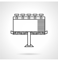 Illuminated city billboard line icon vector image