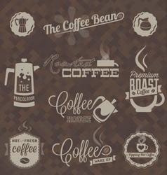 Retro Coffee Shop Labels and Symbols vector image