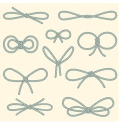 Set of decorative rope bows vector