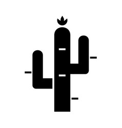 cactus icon black sign on vector image vector image
