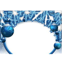 christmas background with baubles and needles vector image vector image