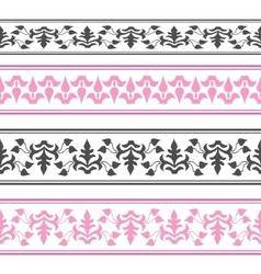 decorative ribbon Seamless strip vector image