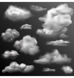 Realistic Cloud for any background vector image