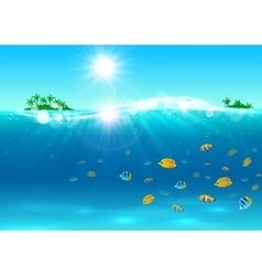 Summer tropical ocean paradise background vector image vector image