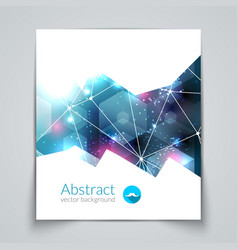 Abstract triangular 3D geometric colorful blue vector image vector image