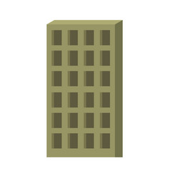apartment building icon green silhouette without vector image