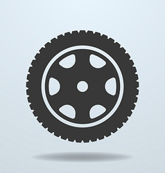 Car wheel icon Car tire rim vector image