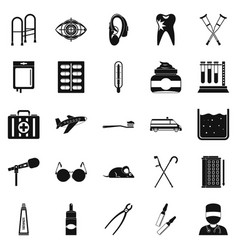 Interest icons set simple style vector