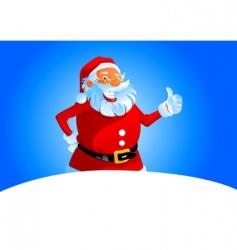Santa thumbs up vector image