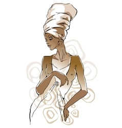 African woman portraits vector image