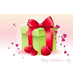 Card for valentines day with green box vector