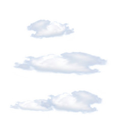 clouds isolated on white background vector image