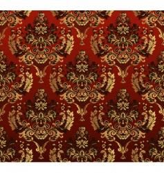 floral red pattern vector image vector image