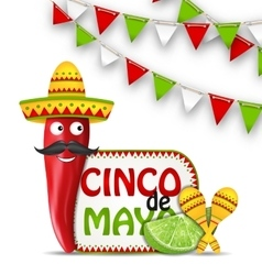 Holiday Celebration Background for Cinco De Mayo vector image vector image