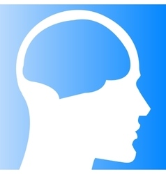 Human head with brain template vector image vector image