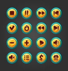 Set of button for game design-1 vector image