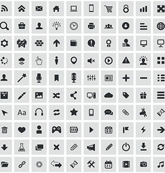 100 webdesign icons vector image