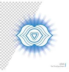 ajna - six chakra human body vector image