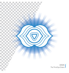 ajna - six chakra of human body vector image
