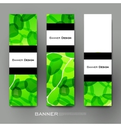 Beautiful banner template with abstract vector image