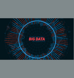 big data circular visualization futuristic vector image