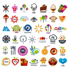 biggest collection logos food vector image