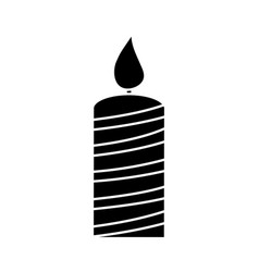 Birthday candle icon vector