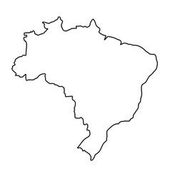 Brazil map of black contour curves of vector