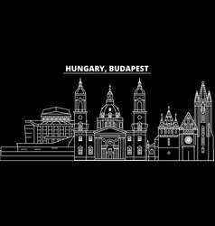 budapest city silhouette skyline hungary vector image