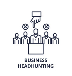 business headhunting line icon concept business vector image