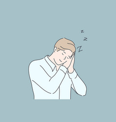 business sleep fatigue insomnia concept vector image