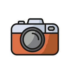 Camera icon photo line icon minimalistic vector