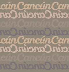 Cancun mexico seamless pattern vector