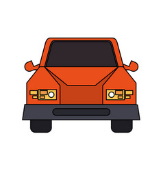 Colorful image cartoon front view car vehicle vector
