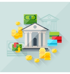 Concept of banking in flat design style vector