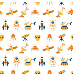 cute seamless cosmic pattern for kids vector image