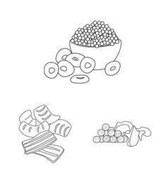 Design taste and crunchy logo vector