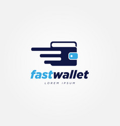 digital fast payment wallet logo sign symbol icon vector image