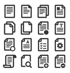 documents file icons set on white background vector image
