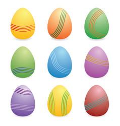 easter eggs set i vector image
