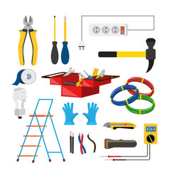 Electrician icons set electrician vector