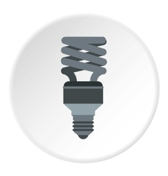 Energy saving lamp icon flat style vector